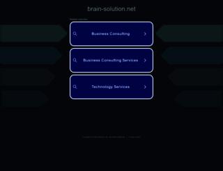 brain-solution.net screenshot