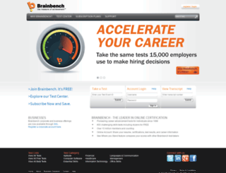 brainbench.com screenshot