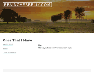 brainoverbelly.com screenshot