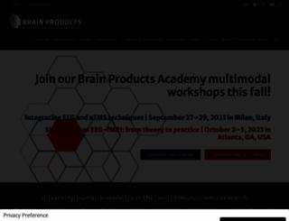 brainproducts.com screenshot