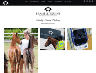 bramble-equine.co.uk screenshot