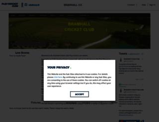 bramhall.play-cricket.com screenshot