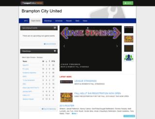 bramptoncityunited.bramptonfairgroundssoccer.com screenshot