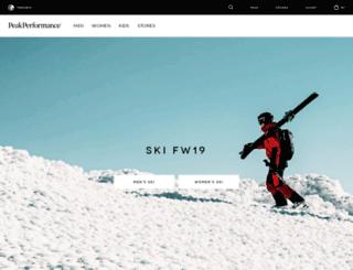 brand.peakperformance.com screenshot