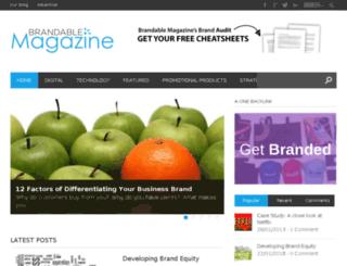 brandablemagazine.com screenshot