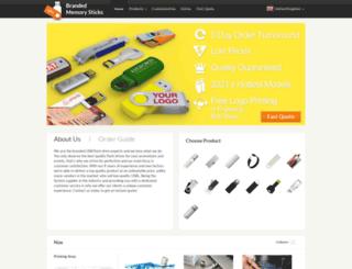 brandedmemorysticks.co.uk screenshot