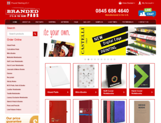 brandedpads.co.uk screenshot