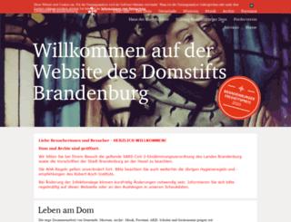 brandenburg-dom.de screenshot