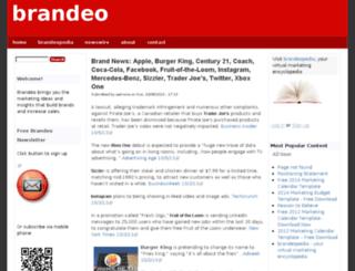 brandeo.drupalgardens.com screenshot