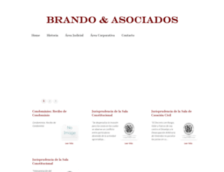 brandoabogados.com screenshot