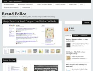 brandpolice.com.au screenshot