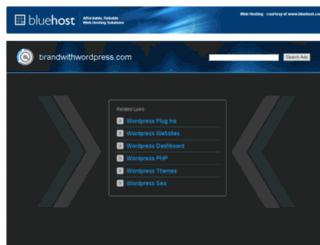brandwithwordpress.com screenshot