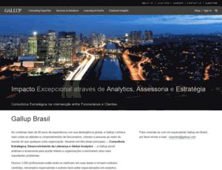 brasil.gallup.com screenshot