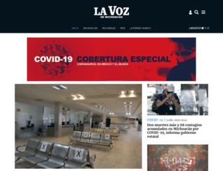 brasil.vozdemichoacan.com.mx screenshot