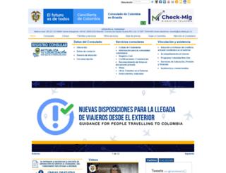 brasilia.consulado.gov.co screenshot