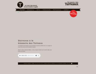brasseriedesterreaux.com screenshot