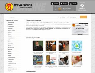 bravacursos.com.br screenshot