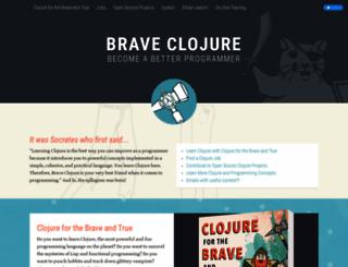 braveclojure.com screenshot