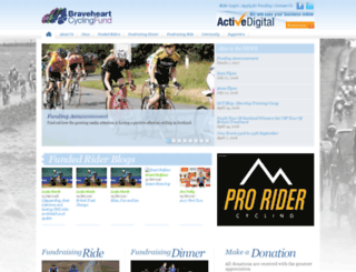 braveheartcyclingfund.com screenshot
