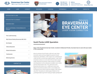 bravermaneyecenter.com screenshot