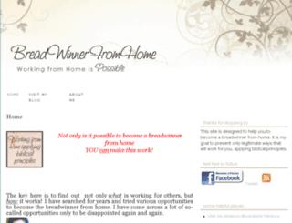 breadwinnerfromhome.com screenshot