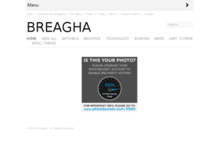 breaghadesigns.com screenshot