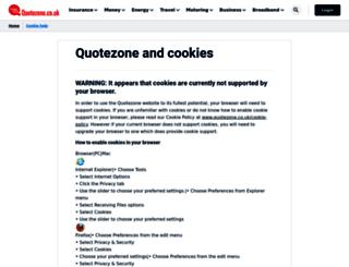 breakdown-cover.quotezone.co.uk screenshot