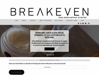 breakevenlondon.co.uk screenshot