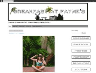 breakfastatfaymes.blogspot.com screenshot