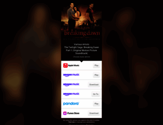 breakingdawnsoundtrack.com screenshot