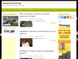 breakingpostng.com screenshot