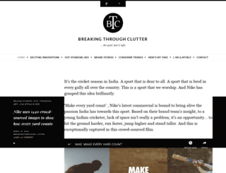 breakingthroughclutter.wordpress.com screenshot