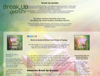 breakupquotes.com screenshot