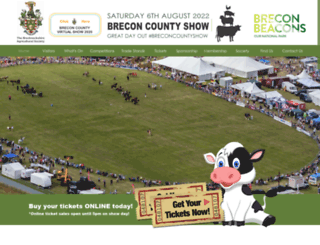 breconcountyshow.co.uk screenshot