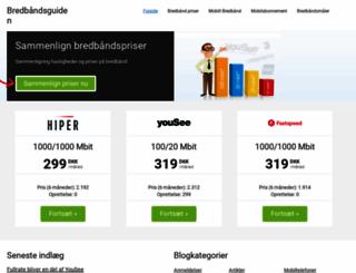 bredbaandsguiden.dk screenshot