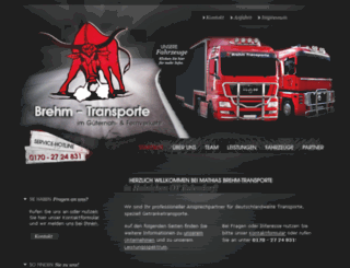brehm-transporte.de screenshot