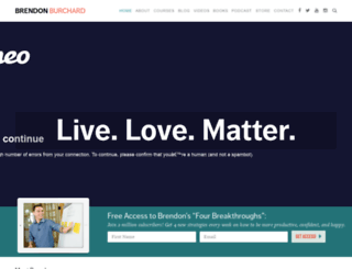 brendonburchard.com screenshot