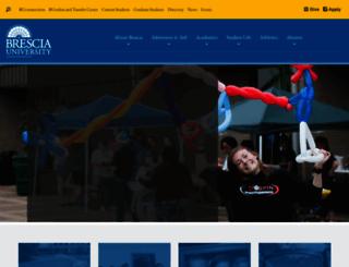 brescia.edu screenshot