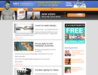 bretthomson.com screenshot