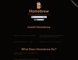 brew.sh screenshot