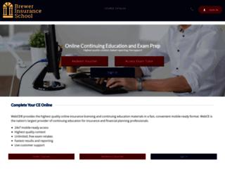 brewerinsuranceschool.webce.com screenshot