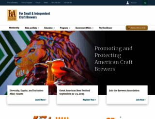 brewersassociation.org screenshot