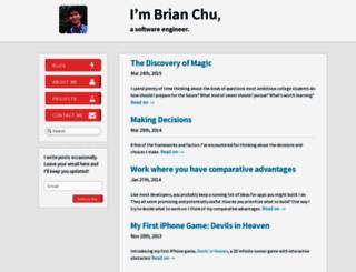 brianchu.com screenshot