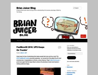 brianjuicerblog.wordpress.com screenshot