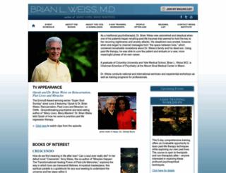 brianweiss.com screenshot