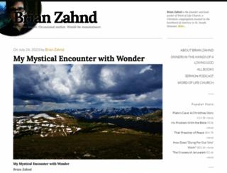 brianzahnd.com screenshot