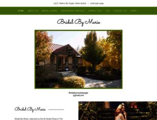 bridalbymarie.com screenshot
