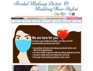 bridalmakeupartistandweddinghairstylist.com screenshot