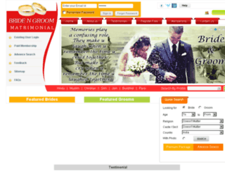 bridengroommatrimonial.com screenshot