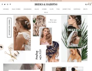 bridesandhairpins.com screenshot